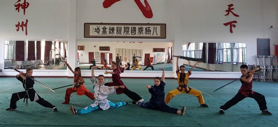 Российские спортсмены в Китае