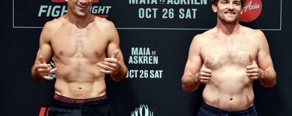 Видео боя Бен Аскрен — Демиан Майя UFC Fight Night 162