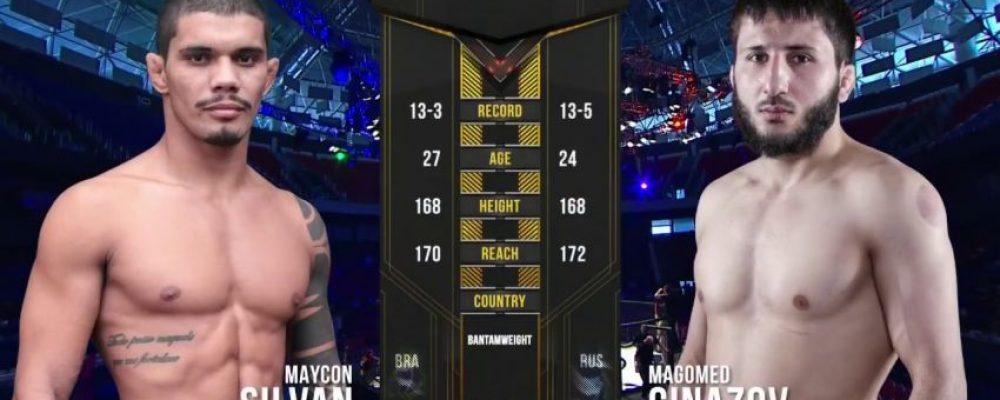 Видео боя Майкон Силван — Магомед Гиназов на ACA 98 — Fight Day